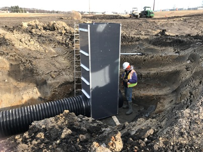 11.29.17 Installation of stormwater wetland water control structure